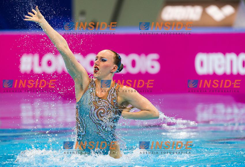 BOJER Marlene GER<br /> London, Queen Elizabeth II Olympic Park Pool <br /> LEN 2016 European Aquatics Elite Championships <br /> Synchro<br /> Solo free final <br /> Day 02 10-05-2016<br /> Photo Giorgio Perottino/Deepbluemedia/Insidefoto