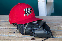 Frisco Roughriders hat on August 22, 2013 at the Nelson Wolff Stadium in San Antonio, Texas. Frisco defeated San Antonio 2-1. (Andrew Woolley/Four Seam Images)