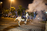 Special elite forces, BOPE, sprays tear gas and shoots rubber bullets at protestors in downtown in Rio de Janeiro, Brazil, on Thursday, June 20, 2013. About 300,000 Cariocas (residents of Rio de Janeiro) protest downtown against the government, which began with a 20-cent hike in public transport fares, and moved to widespread frustration about a heavy tax burden, corrupt politicians and weak public education, health and transport systems, as the nation hosts the Confederations Cup soccer tournament and prepares for next month's papal visit,.<br /> <br /> The demonstrations came despite the government's U-turn over public transport fare hikes which sparked the protests over a week ago.