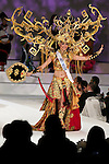 """Miss Indonesia Elfin Pertiwi Rappa, November 11, 2014, Tokyo, Japan : Miss Indonesia Elfin Pertiwi Rappa walks down the runway during """"The 54th Miss International Beauty Pageant 2014"""" on November 11, 2014 in Tokyo, Japan. The pageant brings women from more than 65 countries and regions to Japan to become new """"Beauty goodwill ambassadors"""" and also donates money to underprivileged children around the world thought their """"Mis International Fund"""". (Photo by Rodrigo Reyes Marin/AFLO)"""