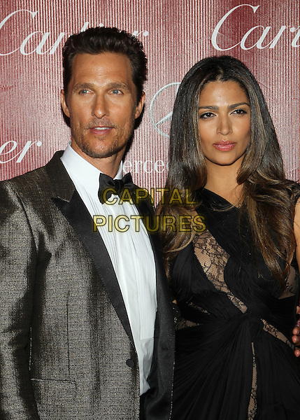 PALM SPRINGS, CA - JANUARY 4: Camila Alves, Matthew McConaughey at 25th Annual Palm Springs International Film Festival Film Awards Gala on  January 4, 2014 at Palm Springs Convention Center, California. Credit: RTNUPA/MediaPunch Inc.<br /> CAP/MPI/JO<br /> &copy;Janice Ogata/MPI/Capital Pictures
