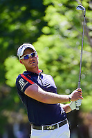 Danny Willett (ENG) watches his tee shot on 7 during round 2 of the World Golf Championships, Mexico, Club De Golf Chapultepec, Mexico City, Mexico. 3/3/2017.<br />