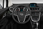 Steering wheel view of a 2013 Buick Encore