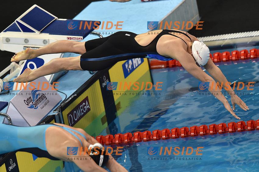 Birgit KOSCHISCHEK AUT Women's 100m Butterfly <br /> Doha Qatar 06-12-2014 Hamad Aquatic Centre, 12th FINA World Swimming Championships (25m). Nuoto Campionati mondiali di nuoto in vasca corta.<br /> Photo Andrea Staccioli/Deepbluemedia/Insidefoto