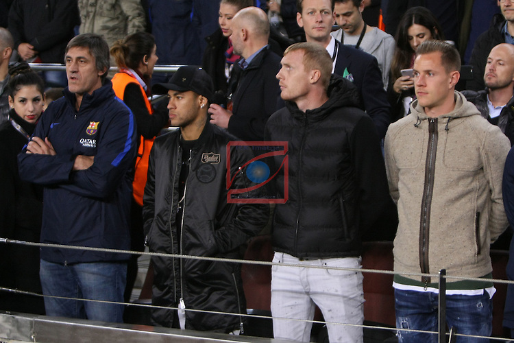 UEFA Champions League 2016/2017 - Matchday 6.<br /> FC Barcelona vs VfL Borussia Monchengladbach: 4-0.<br /> Pepe Costa, Neymar Jr., Jeremy Mathieu &amp; Marc-Andre ter Stegen.
