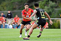 Yu TAMURA (田村 優) in action during the Hurricanes Hinters v Wolfpack at Jerry Collins Stadium, Porirua, New Zealand on Friday 29 March 2019. <br /> Photo by Masanori Udagawa. <br /> www.photowellington.photoshelter.com