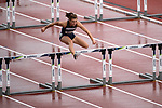 EUGENE, OR - JUNE 09: Nicole Wadden of the University of Nevada competes in the 100 meter hurdles as part of the Heptathlon during the Division I Women's Outdoor Track & Field Championship held at Hayward Field on June 9, 2017 in Eugene, Oregon. (Photo by Jamie Schwaberow/NCAA Photos via Getty Images)