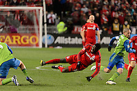 Toronto, ON, Canada - Saturday Dec. 10, 2016: Jozy Altidore during the MLS Cup finals at BMO Field. The Seattle Sounders FC defeated Toronto FC on penalty kicks after playing a scoreless game.