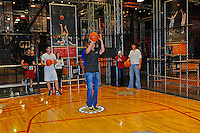 30 September, 2010, Kansas City, Kansas USA.Denny Hamlin shoots some hoops with his friends at The College Basketball Experience..©2010, F. Peirce Williams, USA.