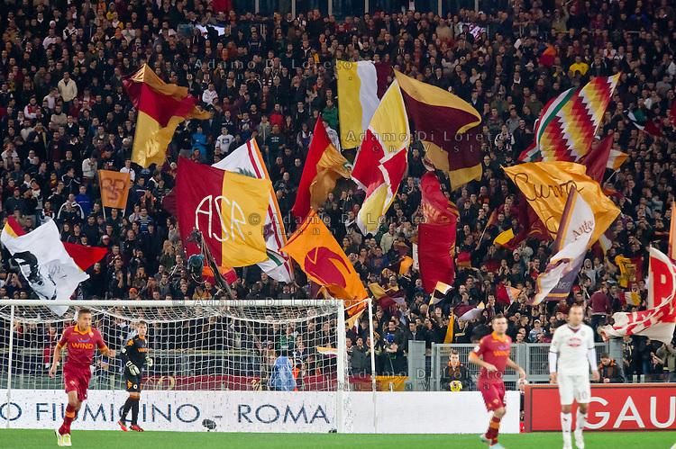 ROMA (RM) 19/11/2012: SERIE A TREDICESIMA GIORNATA ROMA - TORINO. INCONTRO VINTO DALLA ROMA PER 2 A 0. NELLA FOTO UNA VEDUTA DELLA CURVA SUD DELLA ROMA FOTO ADAMO DI LORETO/