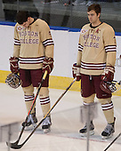 Brendan Silk (BC - 9), Isaac MacLeod (BC - 7) - The Boston College Eagles defeated the University of Denver Pioneers 6-2 in their NCAA Northeast Regional semi-final on Saturday, March 29, 2014, at the DCU Center in Worcester, Massachusetts.