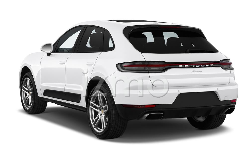 Car pictures of rear three quarter view of a 2019 Porsche Macan Base 5 Door SUV angular rear
