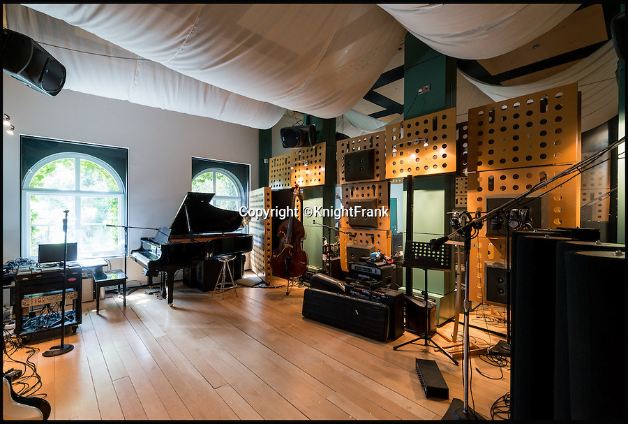 BNPS.co.uk (01202 558833)<br /> Pic: KnightFrank/BNPS<br /> <br /> A sound investment...<br /> <br /> The world-class recroding studio that comes with the house.<br /> <br /> A stunning modernist house where Roxy Music recorded some of their biggest hits, fictional detective Poirot solved crimes and pop band Girls Aloud advertised Nintendo has gone on the market for a whopping £9million.<br /> <br /> The impressive St Ann's Court is an incredible two-for-one deal with a beautiful 1930s 'Round House' and a converted 19th century Coach House that includes a world-class recording studio.<br /> <br /> As well as hosting musicians including Paul Weller and Pink Floyd's David Gilmour, the property near Chertsey in Surrey has featured in countless books, magazines and films.<br /> <br /> The house is being sold by joint agents Knight Frank and The Modern House.