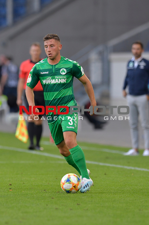 11.08.2019 , Schauinsland-Reisen Arena, Duisburg, DFB Pokal<br /> <br /> DFB REGULATIONS PROHIBIT ANY USE OF PHOTOGRAPHS AS IMAGE SEQUENCES AND/OR QUASI-VIDEO.<br /> <br /> im Bild / picture shows Maximilian Witten ( Greuther Fuerth #3 ).<br /> <br /> <br /> Foto © nordphoto / Freund