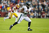 Landover, MD - December 30, 2018: Philadelphia Eagles running back Darren Sproles (43) catches a pass during the  game between Philadelphia Eagles and Washington Redskins at FedEx Field in Landover, MD.   (Photo by Elliott Brown/Media Images International)