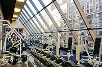 The fitness facility in a Chicago, IL highrise with an awesome outside view.