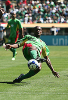 Cedric Avinel kicks the ball. Guadeloupe defeated Panama 2-1 during the First Round of the 2009 CONCACAF Gold Cup at Oakland Coliseum in Oakland, California on July 4, 2009.