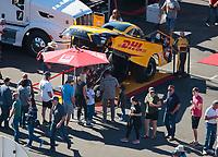 Nov 3, 2019; Las Vegas, NV, USA; NHRA funny car driver J.R. Todd during the Dodge Nationals at The Strip at Las Vegas Motor Speedway. Mandatory Credit: Mark J. Rebilas-USA TODAY Sports