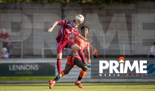 Anthony Stewart of Wycombe Wanderers during the 2018/19 Pre Season Friendly match between Chesham United and Wycombe Wanderers at the Meadow , Chesham, England on 24 July 2018. Photo by Andy Rowland.