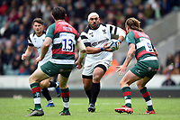 John Afoa of Bristol Bears goes on the attack. Gallagher Premiership match, between Leicester Tigers and Bristol Bears on April 27, 2019 at Welford Road in Leicester, England. Photo by: Patrick Khachfe / JMP