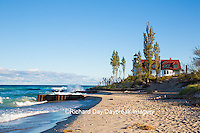 64795-00818 Point Betsie Lighthouse on Lake Michigan, Benzie County, Frankfort, MI