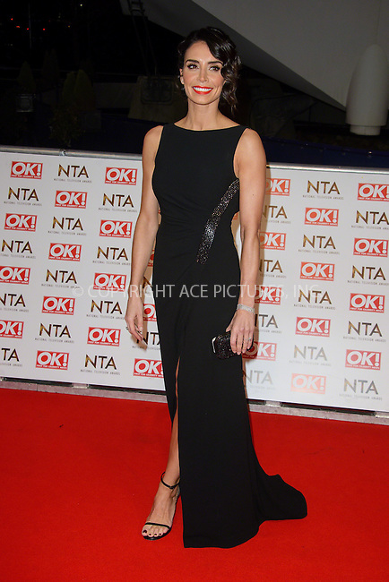 WWW.ACEPIXS.COM<br /> <br /> January 20 2015, London<br /> <br /> Christine Bleakley attends the National Television Awards at the O2 Arena on January 21 2015 in London<br /> <br /> <br /> By Line: Famous/ACE Pictures<br /> <br /> <br /> ACE Pictures, Inc.<br /> tel: 646 769 0430<br /> Email: info@acepixs.com<br /> www.acepixs.com