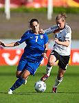 Giulia Domenichetti, Simone Laudehr,  QF, Germany-Italy, Women's EURO 2009 in Finland, 09042009, Lahti Stadium.