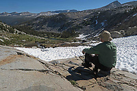 Courtesy photo<br /> Jim Warnock takes in the view from Donahue Pass.