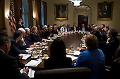 Washington, DC - November 23, 2009 -- United States President Barack Obama holds a Cabinet meeting in the Cabinet Room of the White House, Monday, November 23, 2009. .Mandatory Credit: Pete Souza - White House via CNP