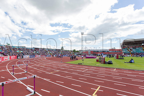 22.06.2013 Gateshead, England. A general view of the  Gateshead International Stadium during the European Athletics Team Championships