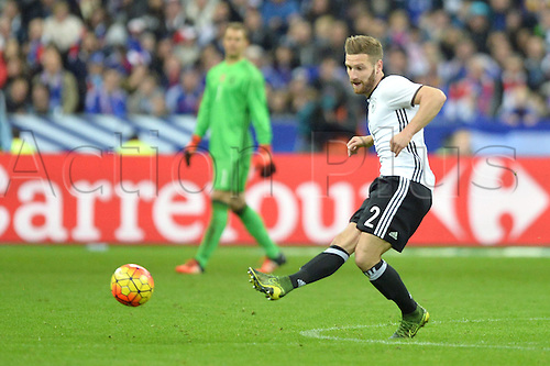 13.11.2015. Stade de France, Paris, France. International football friendly. France versus Germany.  Shkodran Mustafi . The game was parially interupted as the paris terror attacks took place and bombs were heard going off outside the stadium.