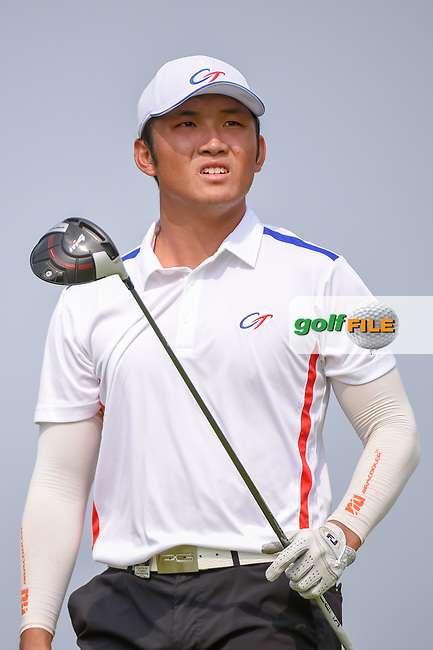 Yung-Hua LIU (TPE) watches his tee shot on 6 during Rd 3 of the Asia-Pacific Amateur Championship, Sentosa Golf Club, Singapore. 10/6/2018.<br /> Picture: Golffile | Ken Murray<br /> <br /> <br /> All photo usage must carry mandatory copyright credit (© Golffile | Ken Murray)