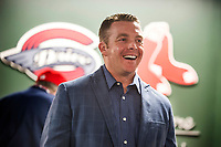 Darren Fenster, manager of the Greenville Drive from 2014-2017, talks with fans during the annual Hot Stove Event to promote the upcoming baseball season on Monday, January 29, 2018, at Fluor Field at the West End in Greenville, South Carolina. (Tom Priddy/Four Seam Images)