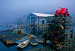 Lobster traps and bouys, Cranberry Isles, Maine, USA.