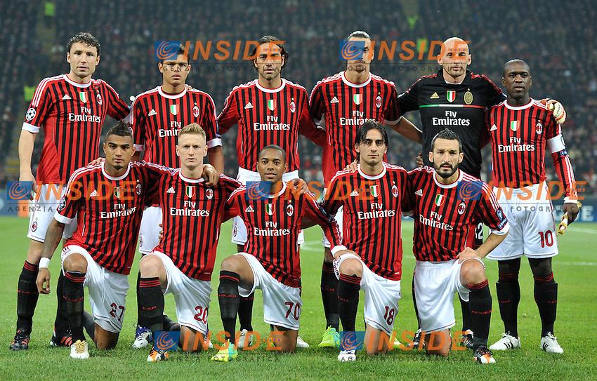 """Formazione (Milan).Milano 23/11/2011 Stadio """"Giuseppe Meazza"""".Champions League 2011/2012.Football Calcio Milan Vs Barcellona.Foto Insidefoto Alessandro Sabattini."""