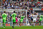 Tranmere Rovers 1 Forest Green Rovers 3, 14/05/2017. Wembley Stadium, Conference play off Final. Tranmere fans rue a missed chance during the Vanarama Conference play off Final  between Tranmere Rovers v Forest Green Rovers at the Wembley. Photo by Paul Thompson.