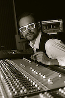 Axel Wolph mixes his album 'The Weekend Starts On Wednesday' in Los Angeles, California.November 2008