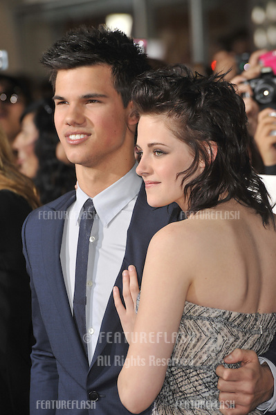 "Taylor Lautner & Kristen Stewart at the world premiere of their new movie ""The Twilight Saga: New Moon"" at Mann Village & Bruin Theatres, Westwood..November 16, 2009  Los Angeles, CA.Picture: Paul Smith / Featureflash"