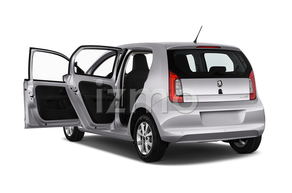 Car images close up view of a 2017 Skoda Citigo Ambition 5 Door Hatchback doors