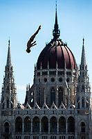 Picture by Rogan Thomson/SWpix.com - 30/07/2017 - High Diving - Fina World Championships 2017 -  Batthyany Ter, Budapest, Hungary - Gary Hunt of Great Britain in action during the Final of the Men's High Dive competition.