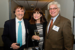 WATERTOWN, CT-111717JS12- Dr. Peter Zilahy of Woodbury with his wife Sharon Zilahy and Steven Chiappalone of Waterbury, at the Leavenworth Society of United Way of Greater Waterbury reception held at the Watertown Golf Club. <br /> Jim Shannon Republican-American