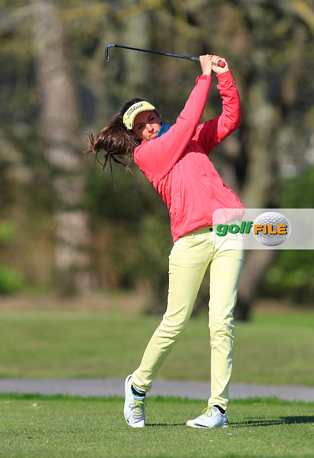 during Round 1 of The Irish Girls Open Strokeplay Championship in Roganstown Golf Club on Saturday 18th April 2015.<br /> Picture:  Thos Caffrey / www.golffile.ie