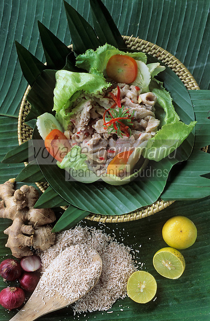 Asie/Malaisie/Bornéo: Restaurant Kiranav - Plat traditionnel poisson cru mariné au citron vert