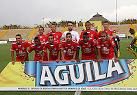 BOGOTÁ -COLOMBIA-28-ABRIL-2016.Formación de Fortaleza FC  contra Huila durante partido por la fecha 15 de Liga Águila I 2016 jugado en el estadio Metropolitano de Techo de Bogotá./ Team  of  Fortaleza FC  against Huila during the match for the date 15 of the Aguila League I 2016 played at Metroplitano de Techo stadium in Bogota. Photo: VizzorImage / Felipe Caicedo / Staff