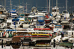 Marina on a cloudy day. Deep Cove, North Vancouver, British Columbia, Canada.