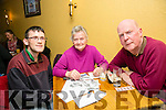 l-r  Paul Culloty, Brid Culloty and William Keane at the Red Cross Fundraiser Table Quiz on Friday
