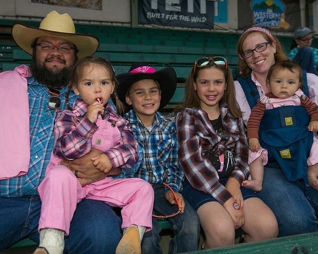 The Dominguez family during the Reno Rodeo Nevada Pink Night on Friday, June 28, 2019.