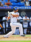 28 February 2011: New York Mets outfielder Fernando Martinez at bat during a Spring Training game against the Washington Nationals at Digital Domain Park in Port St. Lucie, Florida. The Nationals defeated the Mets 9-3 in Grapefruit League action. Mandatory Credit: Ed Wolfstein Photo