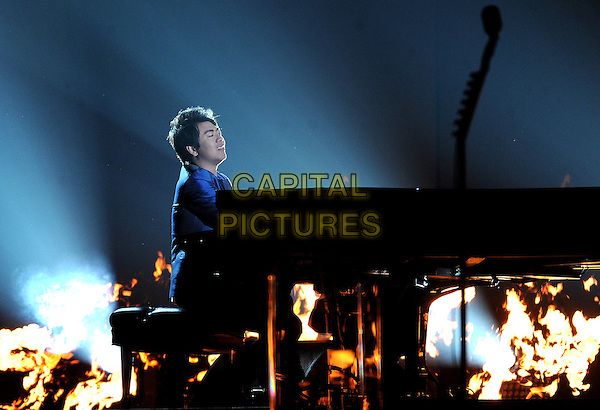 LOS ANGELES, CA - JANUARY 26 : Lang Lang performs onstage at The 56th Annual GRAMMY Awards at Staples Center on January 26, 2014 in Los Angeles, California.<br /> CAP/MPI/PG<br /> &copy;PGFMicelotta/MediaPunch/Capital Pictures