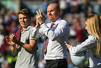 Burnley manager Sean Dyche applauds the fans during a lap of the pitch<br /> <br /> Photographer Alex Dodd/CameraSport<br /> <br /> The Premier League - Burnley v Bournemouth - Sunday 13th May 2018 - Turf Moor - Burnley<br /> <br /> World Copyright &copy; 2018 CameraSport. All rights reserved. 43 Linden Ave. Countesthorpe. Leicester. England. LE8 5PG - Tel: +44 (0) 116 277 4147 - admin@camerasport.com - www.camerasport.com